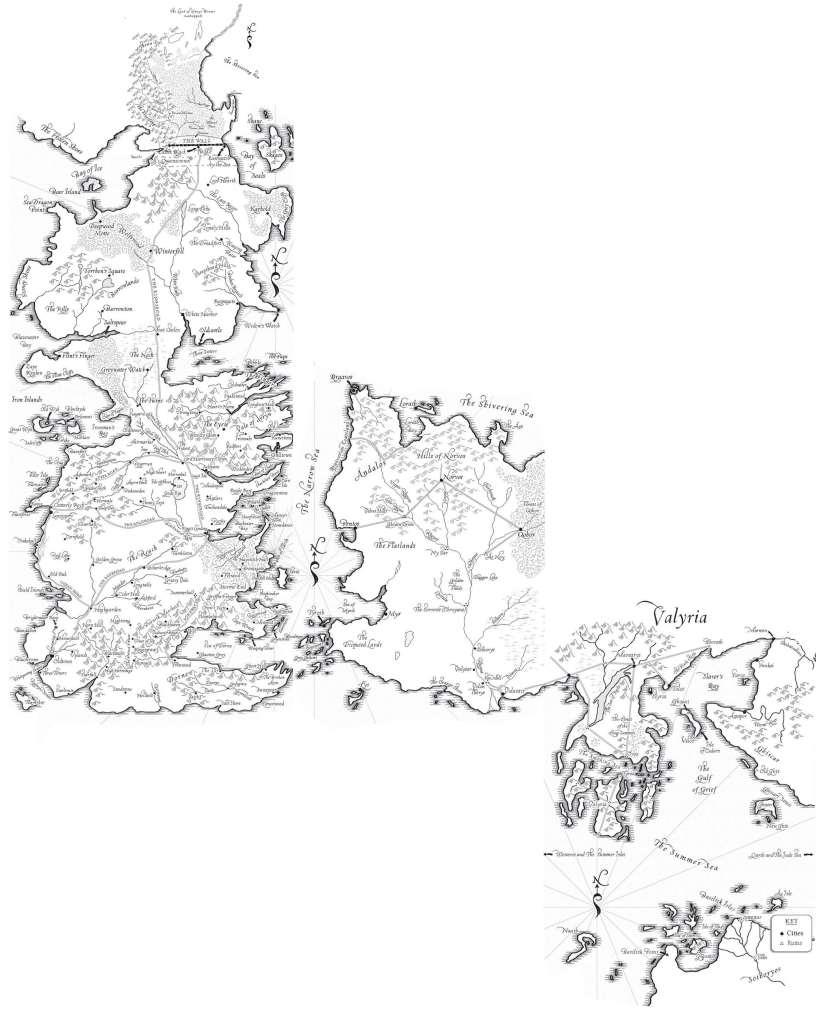 As Crônicas de Gelo e Fogo - Mapa Completo*