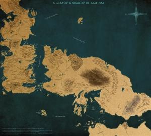As Crônicas de Gelo e Fogo - Mapa Completo Versão 2