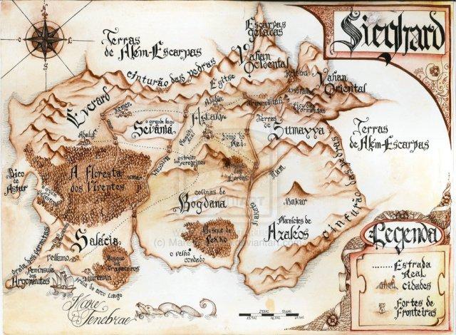 Mapa do Reino de Sieghard