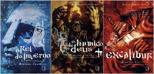 Capas da edição brasileira da trilogia