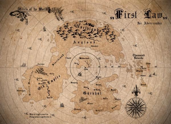 Mapa Primeira Lei por Scubamarco