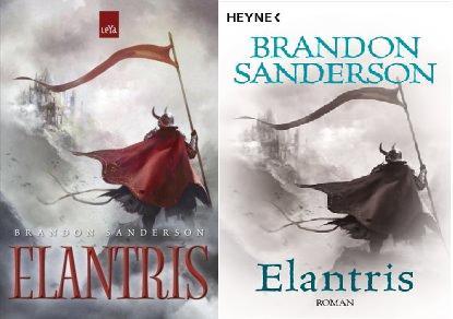 Edições brasileira e alemã de Elantris