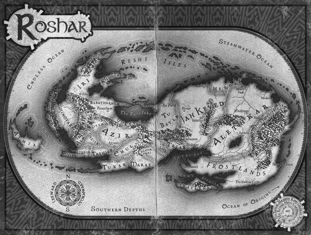 Roshar mapa