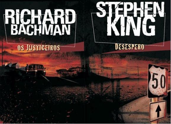 As capas de Os Justiceiros e Desespero (editora Objetiva)