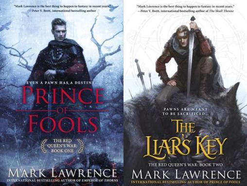 Capas da edição americana dos dois primeiros livros da trilogia